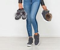 Войлочные ботиночки слипоны подростковые из валянной шерсти для девочки 32 - 41 размер серые