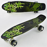 Скейт пенни борд F 9160 Best Board колеса ПУ, светящиеся