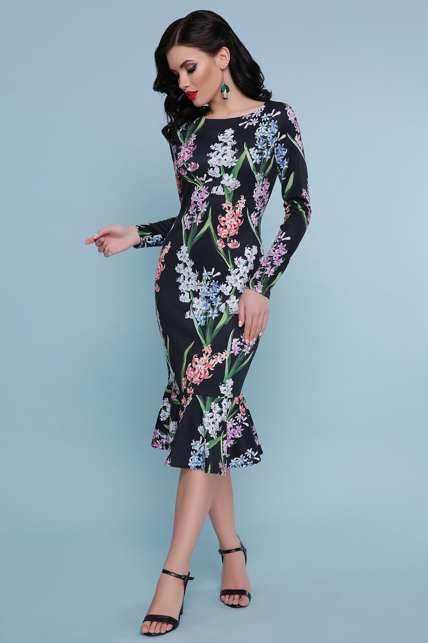 Женское платье черное Гиацинты Фаина д/р