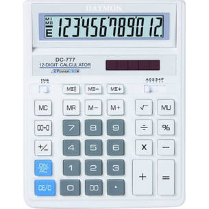 Калькулятор Daymon DC-777 Blue бухгалтерский 12р., фото 2