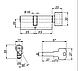Цилиндровый механизм Apecs EM-70-C-N(10 ключей!), фото 3