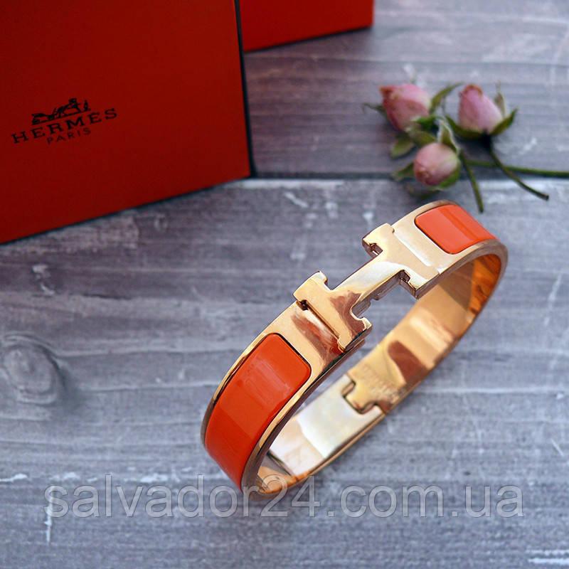 Браслет Hermes (реплика) розовое золото, эмаль