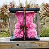 Мишки из роз 25 см + Подарочная упаковка