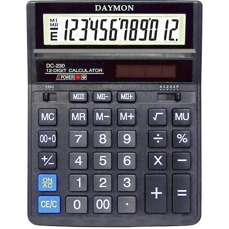 Калькулятор Daymon DC-230 бухгалтерский 12р., фото 2