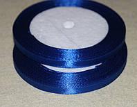 Лента атласная  859   синий  6 мм