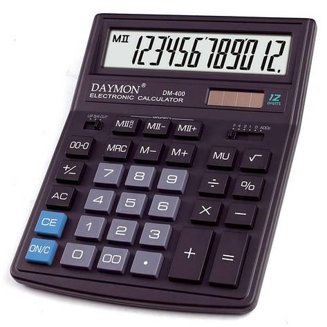 Калькулятор Daymon DM-400 бухгалтерский 12р., фото 2