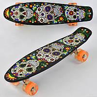 Скейт пенни борд Р 15909 Best Board колеса ПУ, светящиеся