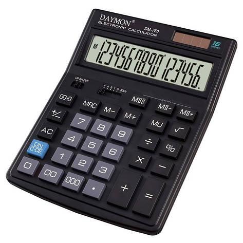 Калькулятор DM-760 бухгалтерский 16р. , фото 2