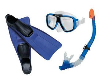 Набір для плавання Intex 55957, (маска 55974, ласти 55934: EUR (38-40) 24-26 см і трубка 55928), від 8 років