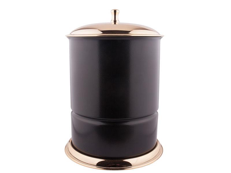Ведро для мусора KUGU Waste Bin Черное/Золото