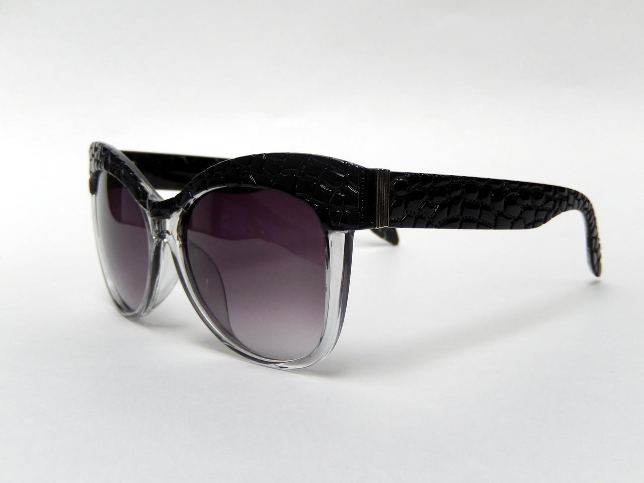 Солнцезащитные очки с оправой  рептилии