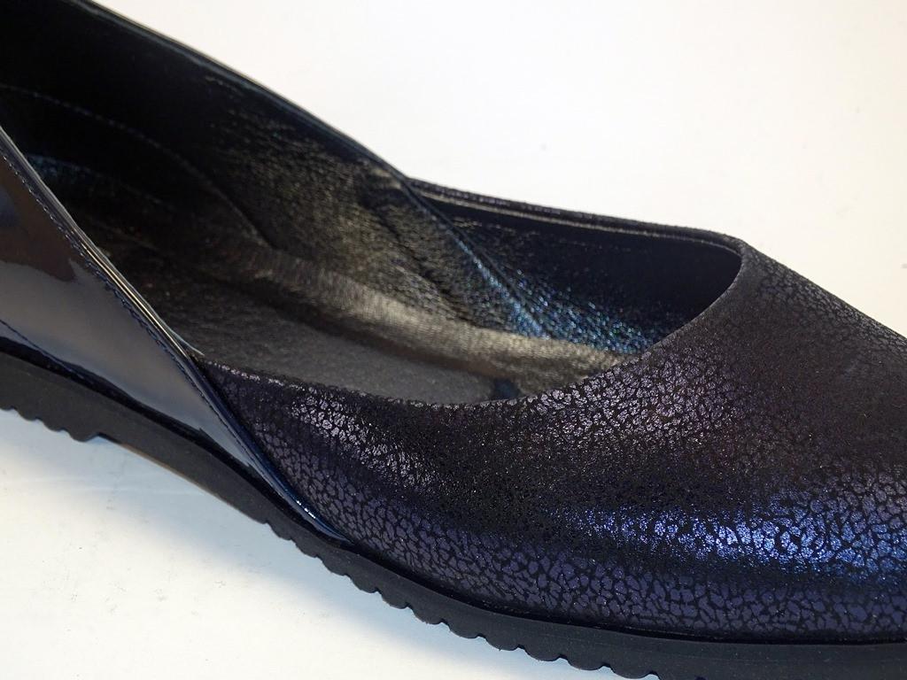 Большой размер балетки женские кожаные Scara U Lack Violet Leather by Rosso Avangard BS фиолетовые