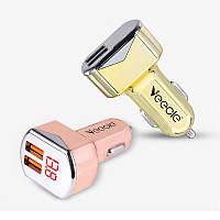 Автомобильная USB зарядка с вольтметром, 12/24 В., фото 1
