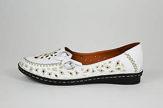 Балетки женские белые Euromoda 1459, фото 3