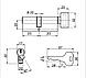 Цилиндровый механизм Apecs  EC-70-C-Ni, фото 3