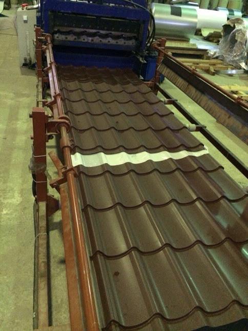 производство металлочерепиці коричневой