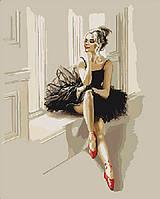 Картина по номерам на холсте Балерина KHO4548