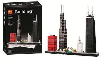 """Конструктор Bela 10677, Architecture 21033 """"Чикаго"""", 444 деталей"""