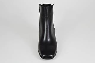 Кожаные женские ботинки с серебристым каблуком Lottini 2134, фото 3