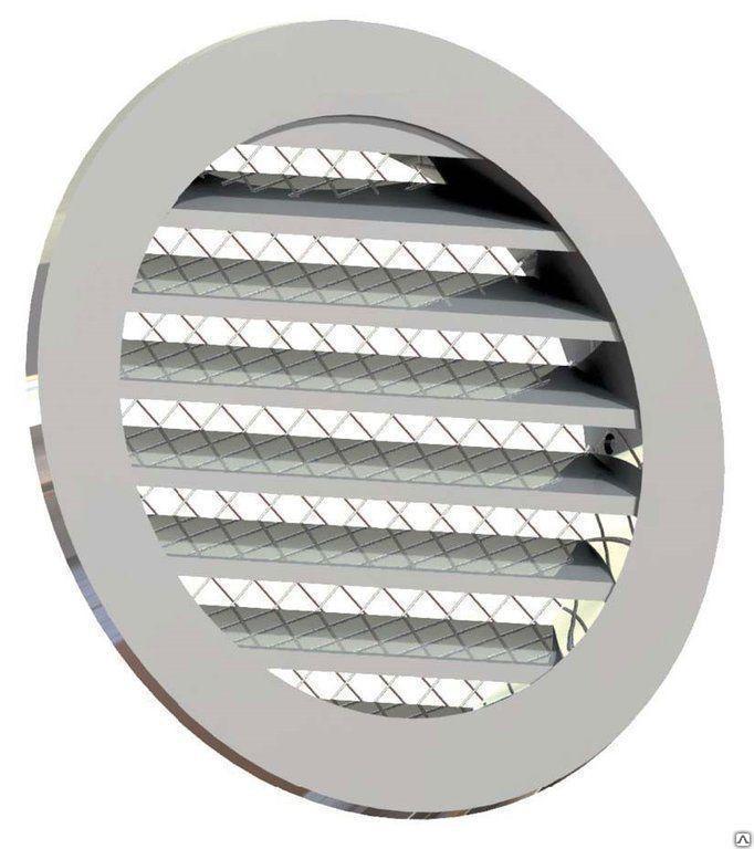 Приточно-вытяжная решетка 200 мм, металлическая
