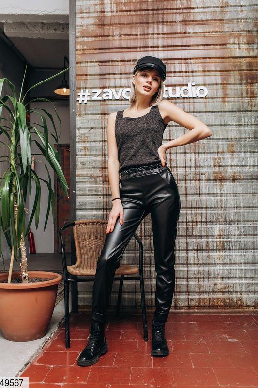 Женские брюки из эко-кожи Размеры  42-44,44-46