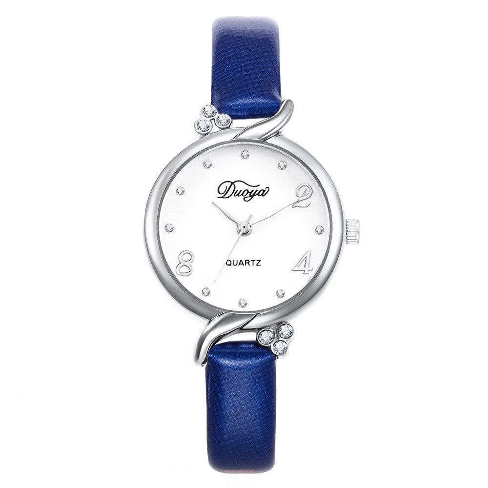 Модные женские наручные часы с синим ремешком | 20608-2