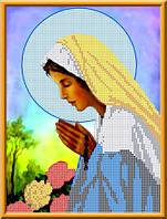 """Схема для вышивки бисером на габардине """"Божья Матерь Святого Розария"""""""