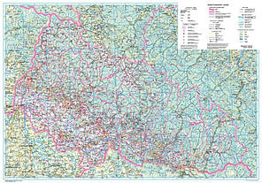 Політико-адміністративна карта Закарпатської області 1:250000 (2012р.) , фото 2