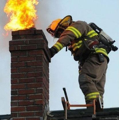 пожар в дымоходе фото