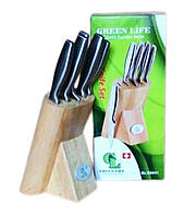Набор кухонных ножей на подставке 5 шт