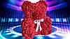 Мишка из латексных красных розочек, фото 5