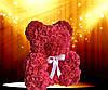 Мишка из латексных красных розочек, фото 6