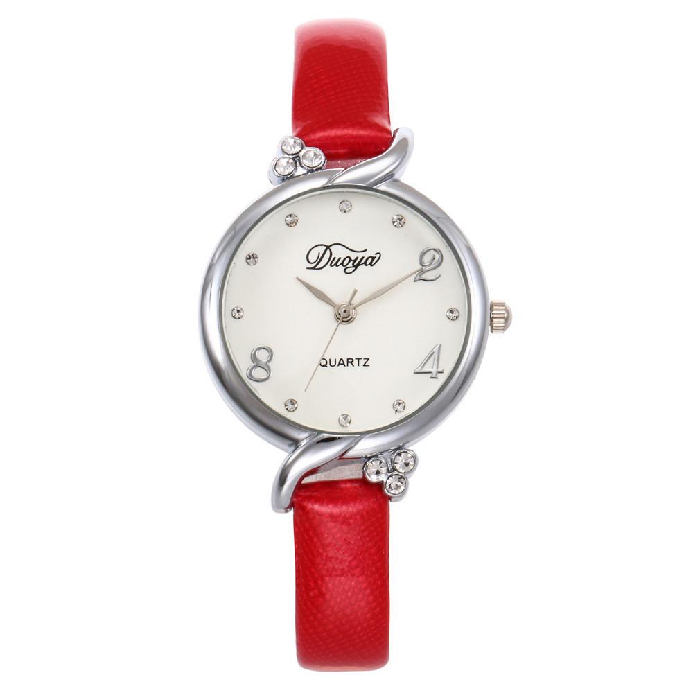 Модные женские наручные часы с красным ремешком | 20608-3