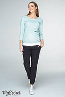 Комфортные брюки для беременных MELANI TR-19.011, черные в полосочку, фото 1