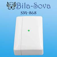Датчик размыкания (открытия) беспроводной SM-868, радио-канальный, 868 МГц, Tesla Security