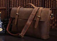 Мужской кожаный портфель, сумка, ретро-стиль 7082R лошадиная кожа