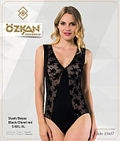 Боди Ozkan 23457, производство Турция. Цвет черный. Размеры: S, M, L, XL, фото 1