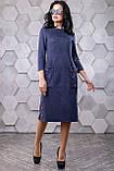 Замшевое платье прямого фасона 44- 50р, фото 6