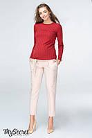 Стильные брюки-чинос для беременных LISA TR-19.023, бежевые