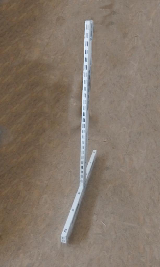 Стійка 1450х500 перфорована двохстороння для металевих стелажів з основою