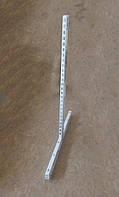 Стійка перфорована двохстороння для металевих стелажів з основою