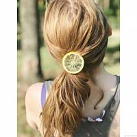 Резиночка для волос Фрукты-Ягоды - Лимонная долька