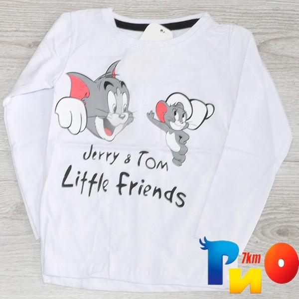 """Детский батник """"JERRY & TOM"""" из трикотажа, для мальчиков 0-1/1-2/2-3/3-4 года (4 ед в уп)"""
