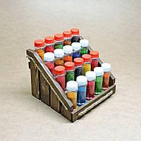 Органайзер для специй Джолокия люкс 20 капучино с баночками для специй