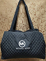 Женские сумка стеганная логотип Michael Kors (темно серый) 30*43