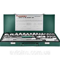 """Набор торцевых головок Jonnesway 1/2""""DR 8-34 мм, 24 предмета"""