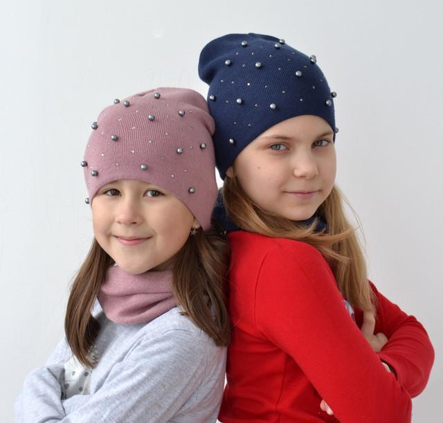 жемчуг шапка для девочки
