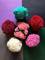 Мишки из 3d роз 25см 6 цветов