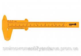 Штангенциркуль пластиковый VOREL 150 мм