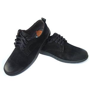 Черные мужские туфли: натуральный нубук на шнуровке фабрики detta Харьков